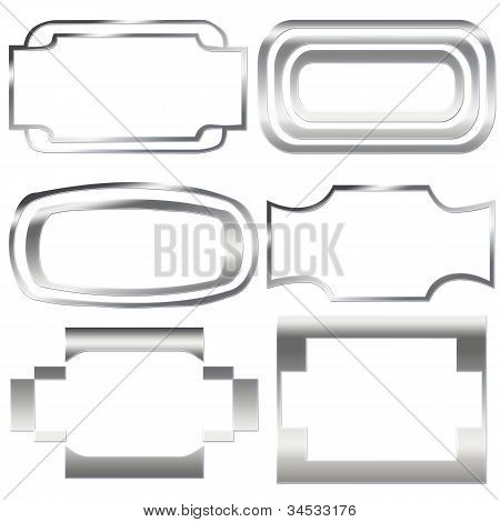 Silver, Iron  Frames Isolated On The White Background