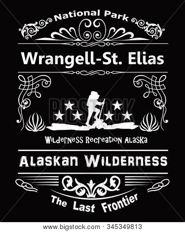 Wrangell St. Elias National Park In Alaska.  Part Of The Alaskan Wilderness, The Last Frontier With