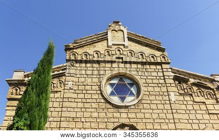 Six-pointed Star Under The Roof Of The Old Synagogue Egiya-kapay In Yevpatoria Built In 1911