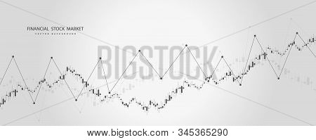 Stock Market Or Forex Trading Graph In Graphic Concept .japanese Candles. Abstract Finance Backgroun