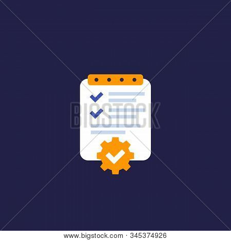 Project Management, Plan Icon, Eps 10 File, Easy To Edit