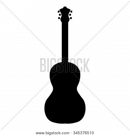 Vector Set Of String Music Instruments Silhouettes. Electric Guitars, Acoustic Guitars, Classic Guit