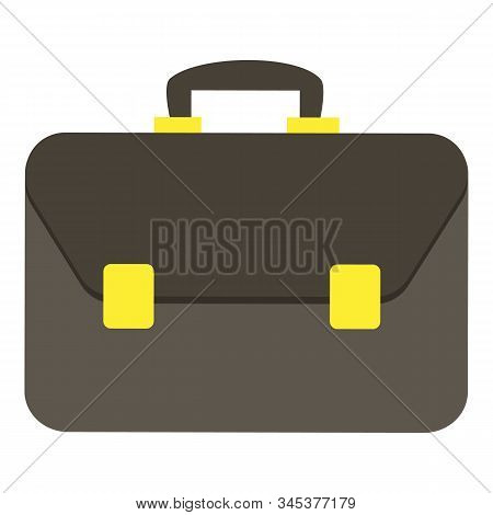 Leather Briefcase For Documents With Small Gold Clasp. Formal Practical Unisex Accessory. Convenient