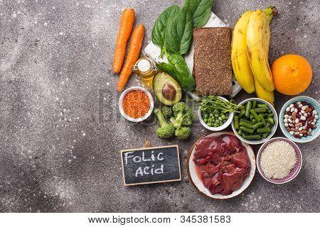 Food Rich In Folic Acid. Healthy Products