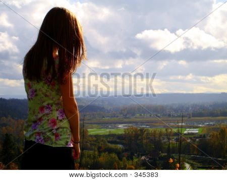 Girl Viewing The World