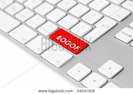 Computer keyboard with red