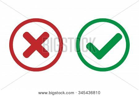 Yes Or No Button. Vector Design, Reject, Cancel, Simple, Popular, Media, Social, User, Communication