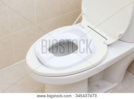 White Baby Toilet Bowl Seat Cover, Lid For Toilet