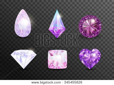 Precious Stones And Gems, Jewelry. Rhinestone And Brilliant, Sapphire And Amethyst, Aquamarine And T