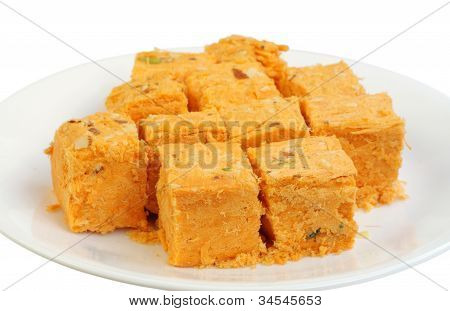 Fresh delicious soan papdi sweets