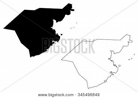 Grand Port District (republic Of Mauritius, Island, Districts Of Mauritius) Map Vector Illustration,