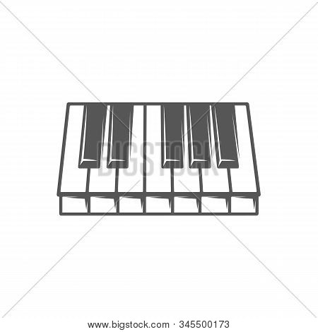 Piano Keyboard Isolated On White Background