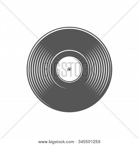 Vinyl Record Isolated On A White Background