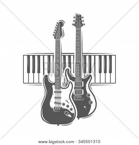 Two Guitars And Piano Keyboard