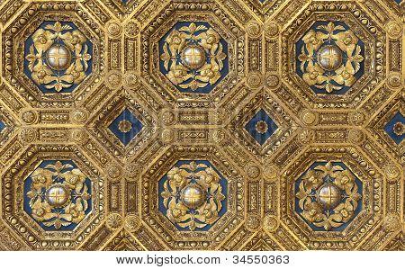 Golden Roof In Palazzo Vecchio