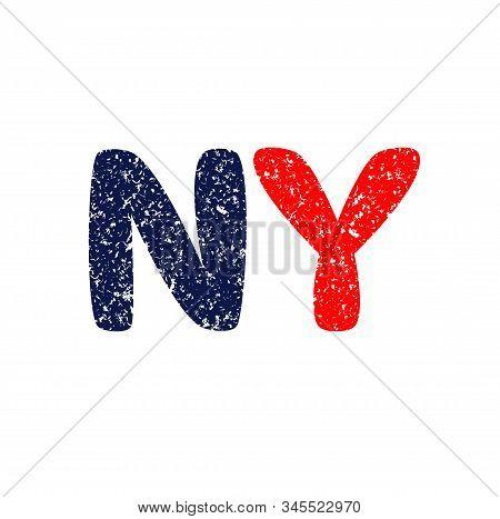 Ny Logo. New York Logo. Grunde. Vector Logo.