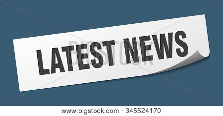 Latest News Sticker. Latest News Square Isolated Sign. Latest News