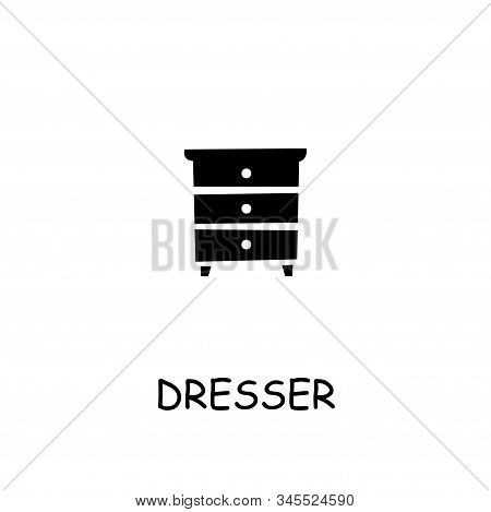 Dresser Flat Vector Icon. Hand Drawn Style Design Illustrations.
