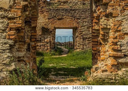 Old Castle Ruins Hallway And Passageway Yard Outdoor Space