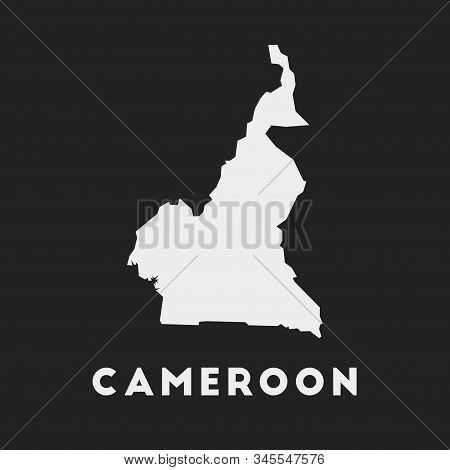 Cameroon Icon. Country Map On Dark Background. Stylish Cameroon Map With Country Name. Vector Illust