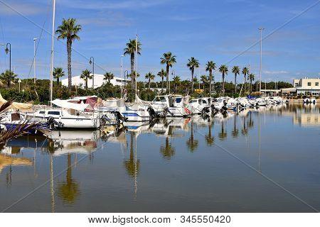 Leisure Port, Sports Port Marina De Las Dunas In Guardamar Del Segura, Alicante. Spain. Europe. Sept