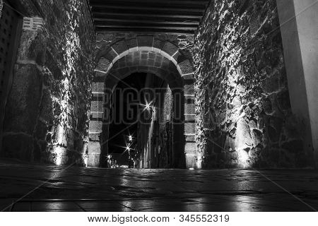 East Gate Entrance Of The City Wall At Avila, Spain
