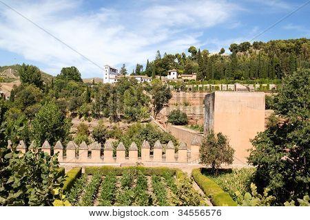 Palacio De Generalife In Granada, Spain