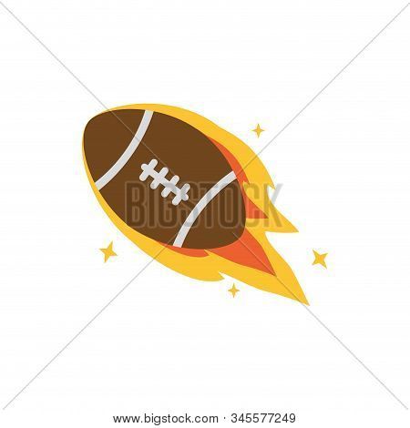 Ball With Flame Design, American Football Super Bowl Sport Hobby Competition Game Training Equipment