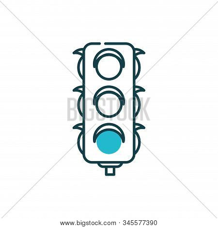 Semaphore Icon Design, Street Message Way Information Direction Light Transportation Travel And Guid