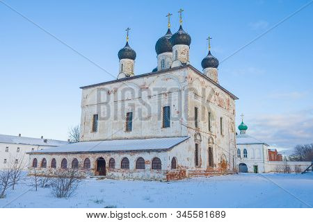 Ancient Cathedral Of The Trinity Life-giving In The Trinity Makariyevo-unzhensky Monastery On A Janu