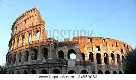Colosseum in sunset