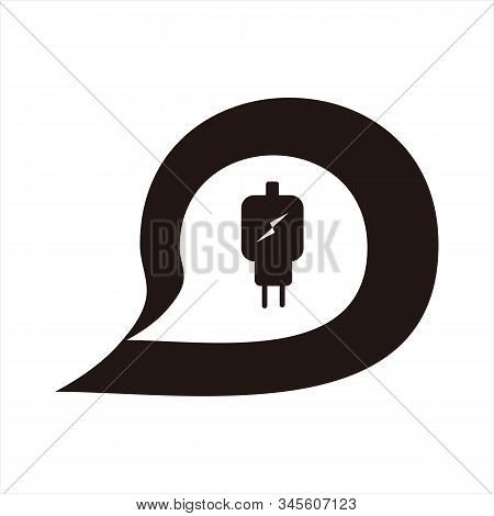 Charger Message Icon, Isolated Icon With White Background. Message Icon. Charger Icon. Trendy Icon.