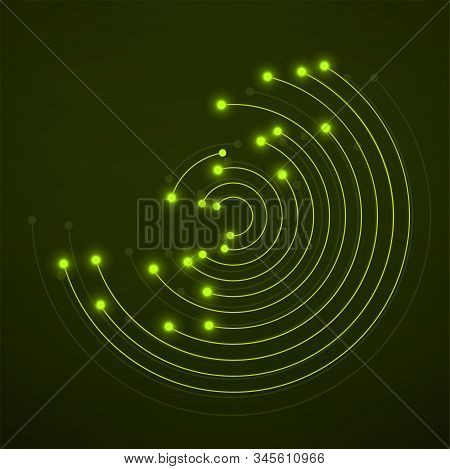 Technology Connection Logo, Abstract Sign Of Line And Dots