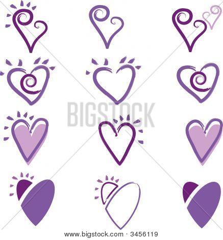Scrapbooking Heart Set