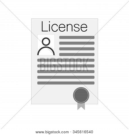Linear Pile Of License Or Contract Documents. Concept Of Doc Checkup With Approve Seal Or Correct Pa