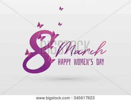 Vector Happy Women's Day Greeing Card Design Background