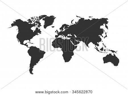 Simple Blank Vector World Map. Modern Style Simple Blank Vector World Map