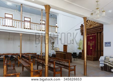 Evpatoria, Crimea, Russia-september 08, 2019:  The Interior Of The Old Synagogue Egiya-kapay In Yevp