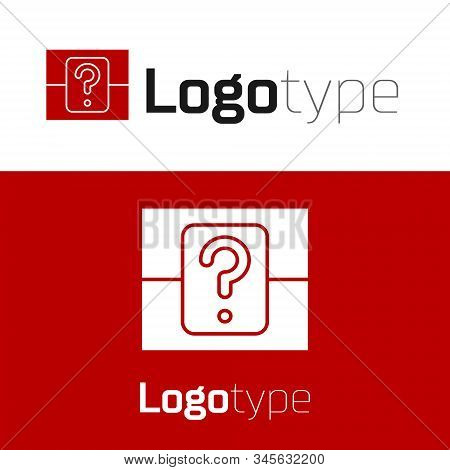 Red Mystery Box Or Random Loot Box For Games Icon Isolated On White Background. Question Box. Logo D