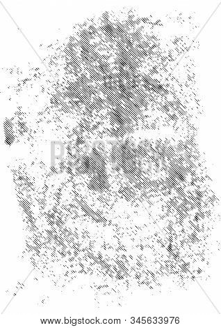 Old Grunge Cracked Texture Template With Dirty Slanted Stripes Effects Vector Illustration