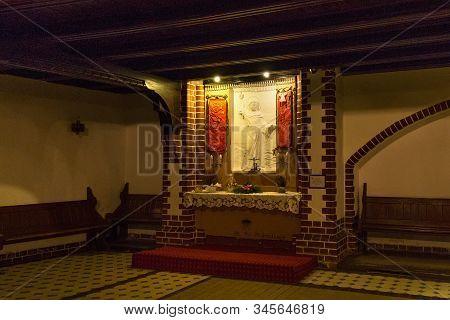 Sopot, Poland - December 20, 2017: Side Altar Of The Garrison Church Of St. George In Sopot. Origina