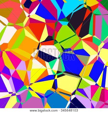 Vibrant Retro Multi Colored Geometric Style Pattern.