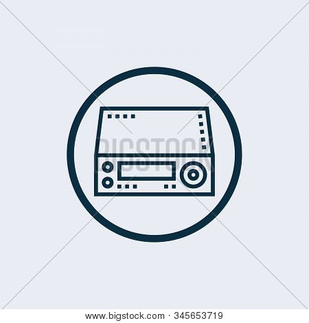Cassette Icon Isolated On White Background. Cassette Icon Simple Sign. Cassette Icon Trendy And Mode
