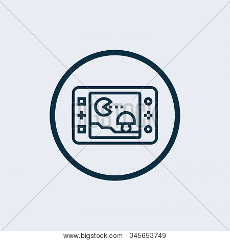 Game Console Icon Isolated On White Background From Software Engineering Video Gaming Collection. Ga