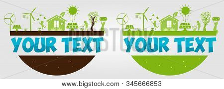 World Environment Day. Ecology. Creative. Eco-friendly Concept Ideas. Alternative Sun Energy. Eco Po