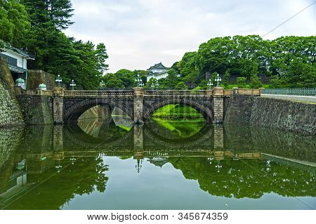 Tokyo Imperial Palace,  The Primary Residence Of The Emperor Of Japan, Is A Large Park-like Area Loc