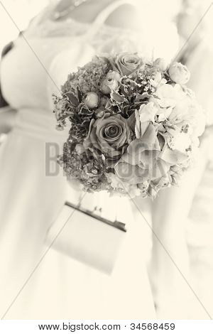 Bride Carrying Her Bouquet