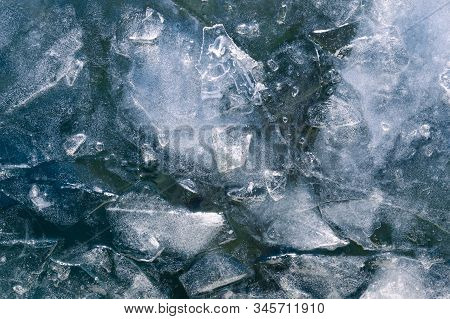 Winter Background Of Frozen Water. Natural Winter Background. Winter Ice Background. Winter Ice Back