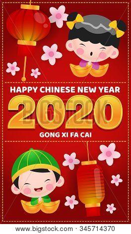 Stock Vector Happy Chinese New Year 2020 Gong Xi Fa Cai Ang Pao
