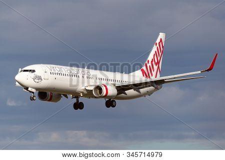 Melbourne, Australia - June 23, 2015: Virgin Australia Airlines Boeing 737-800 Airliner On Approach